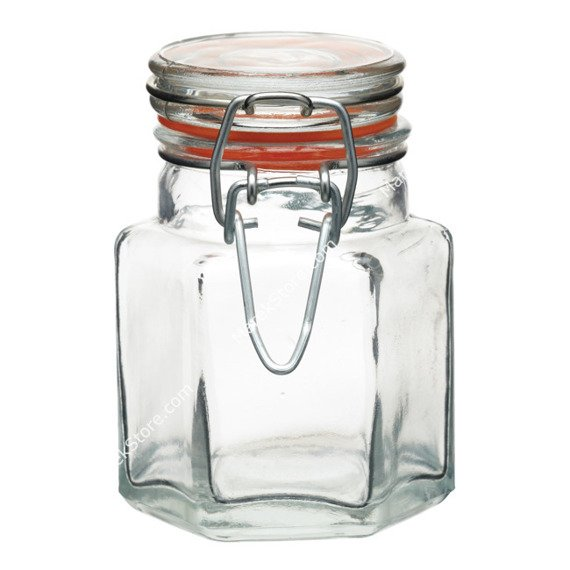 Słoiczek sześciokątny z klamrą MINI - 100 ml | KITCHEN CRAFT HOME MADE